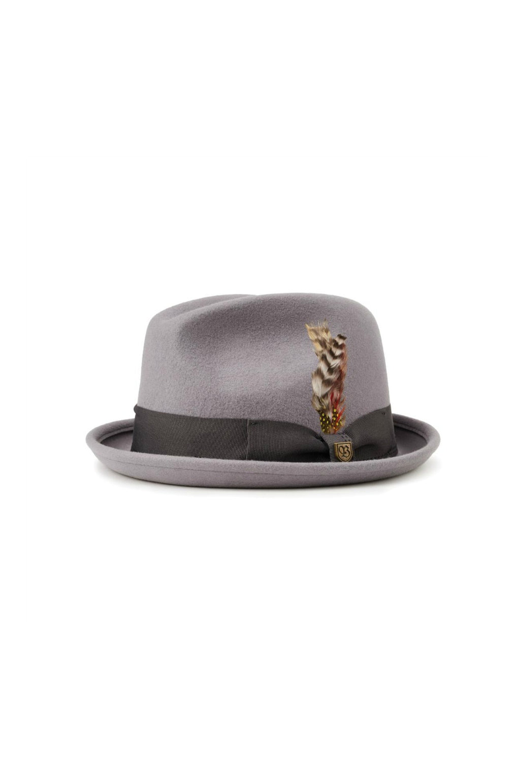Brixton Gain Fedora in Light Grey/Charcoal