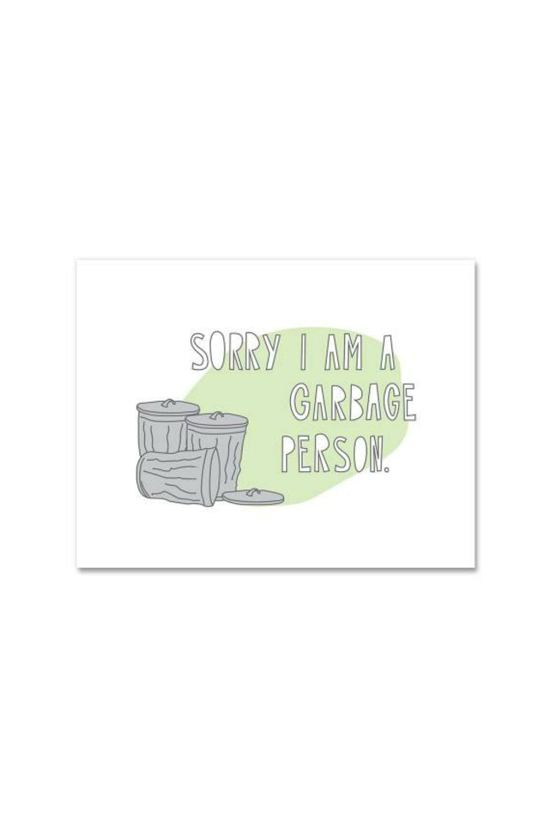 Near Modern Disaster Greeting Card - Garbage Person