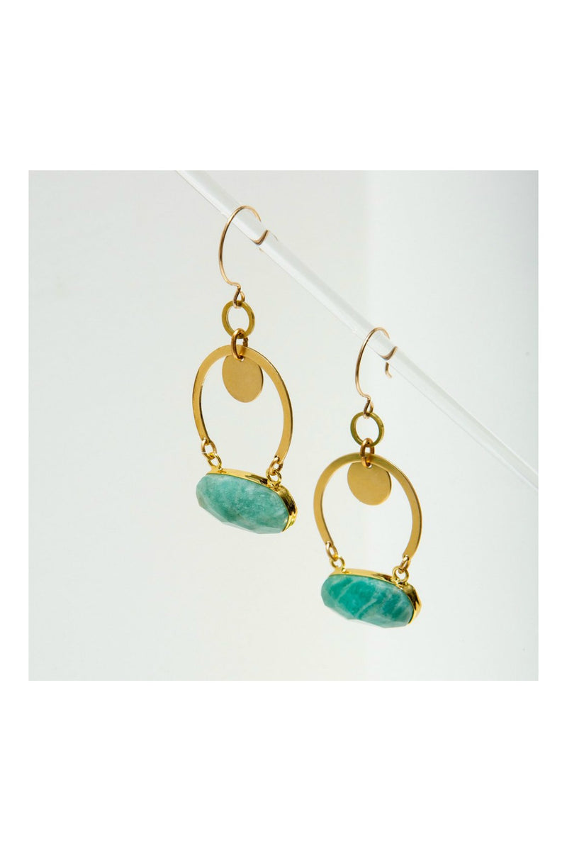 Larissa Loden Geneva Earrings - Amazonite