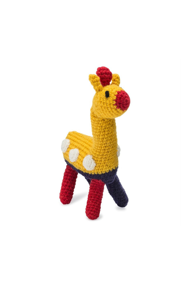 Love Thy Beast Knit Giraffe Toy