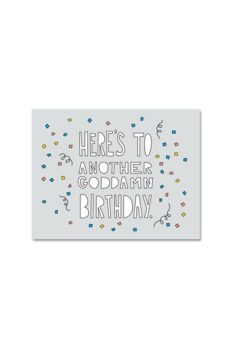 Near Modern Disaster Greeting Card - Goddamn Birthday
