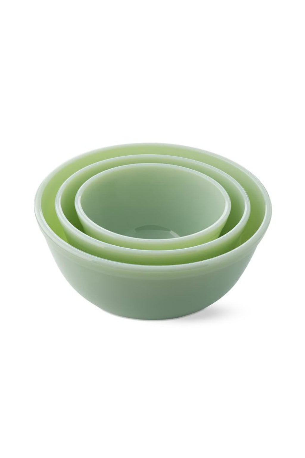 Mosser Glass Mixing Bowls Set in Jade