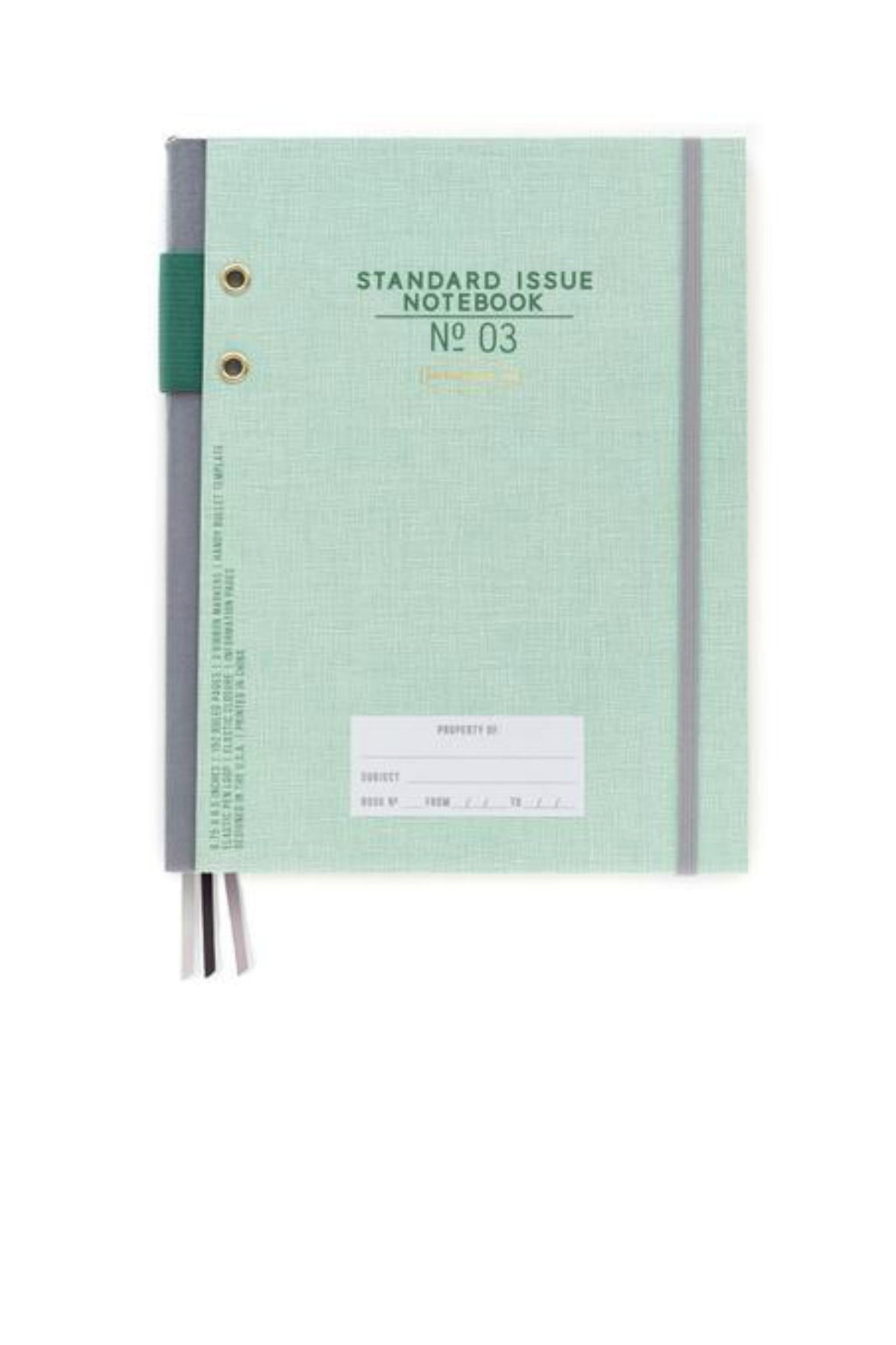 Designworks Ink Hardcover Fabric Spine Notebook in Green