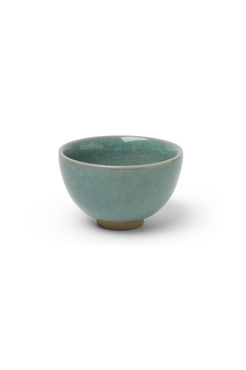 Miya Sakura Crackle Teacup in Green