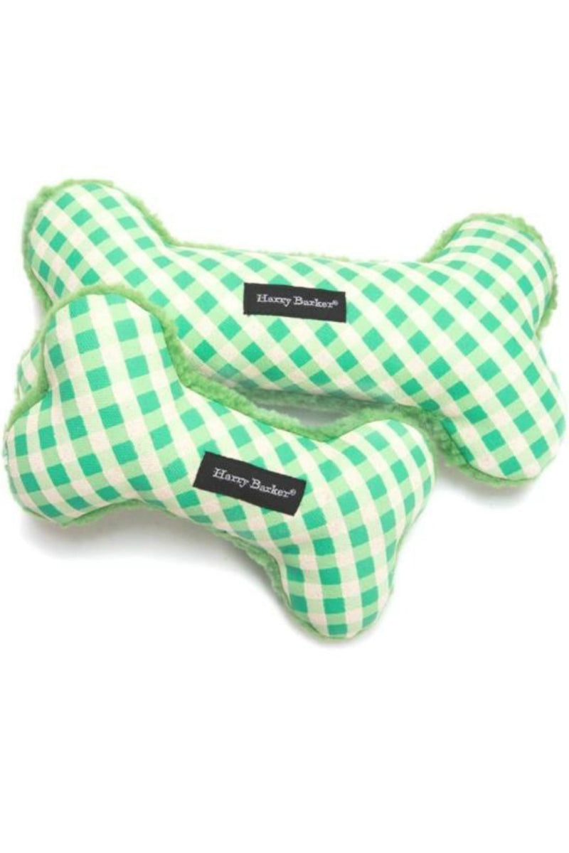 Harry Barker Gingham Bone for Small Dogs - Green