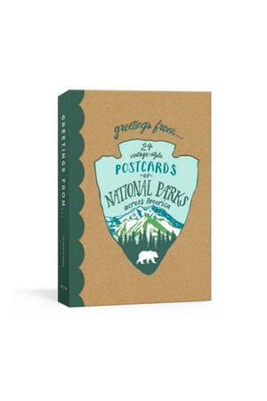 Greetings From: 24 Vintage-Style Postcards of National Parks Across America by Kathryn Hunter