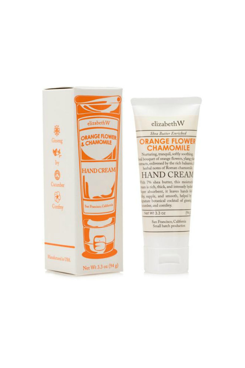 elizabethW Hand Cream - Orange Flower Chamomile