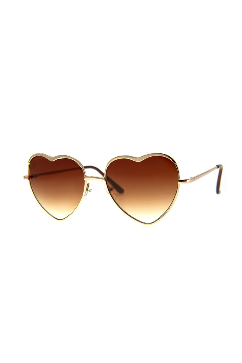 Heart of Glass Sunnies in Gold