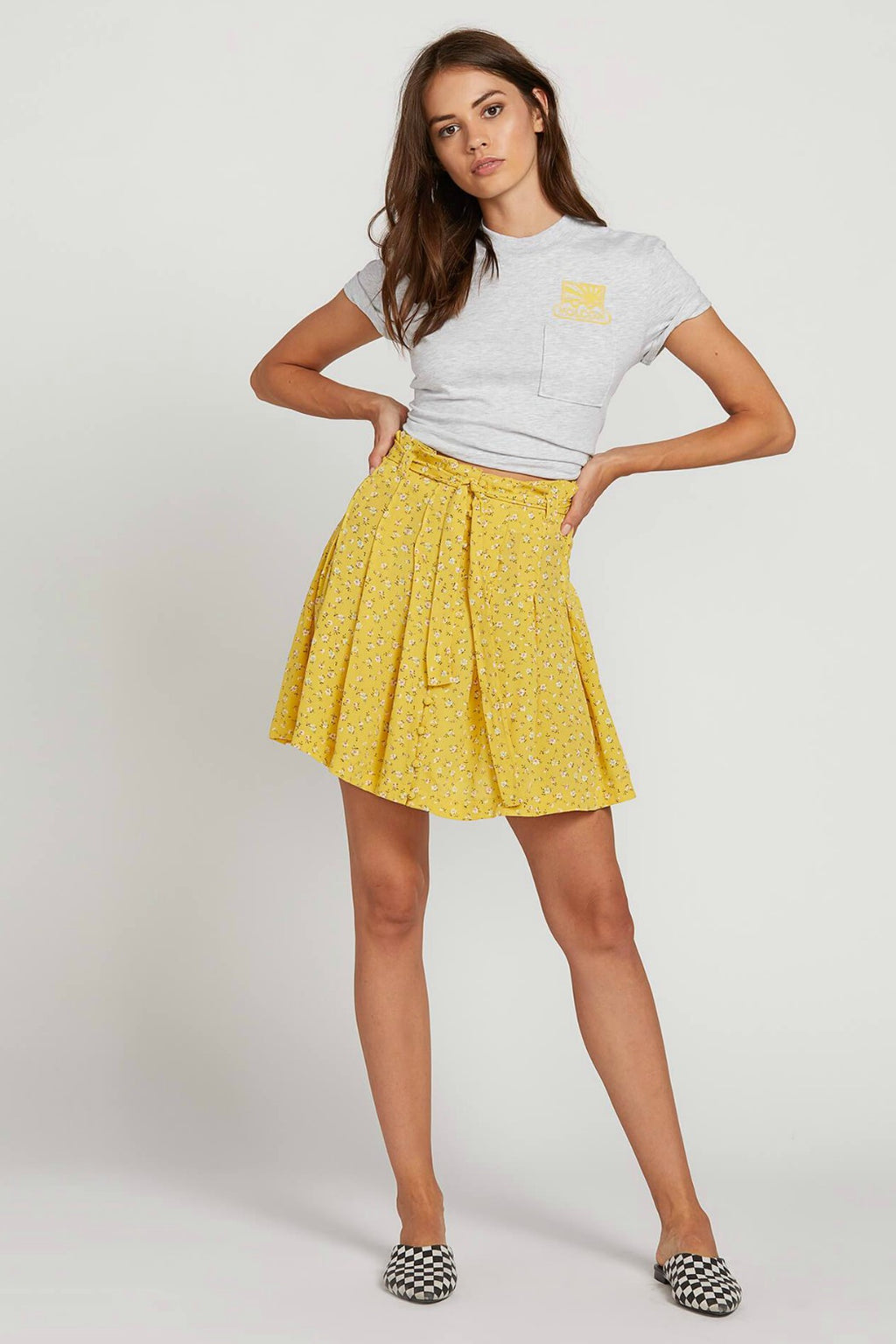 Volcom Hey Bud Skirt in Citron