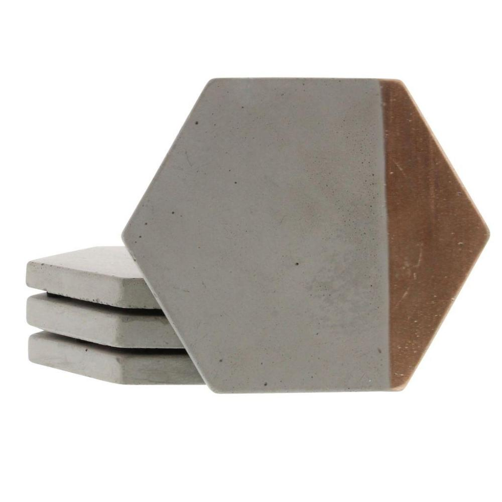 Cement Coaster Set- Copper