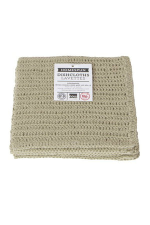 Now Designs Homespun Crochet Dishcloths in Natural