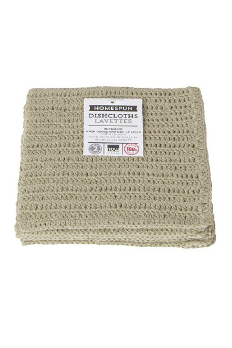 Now Designs Homespun Crochet Dishcloths - Natural