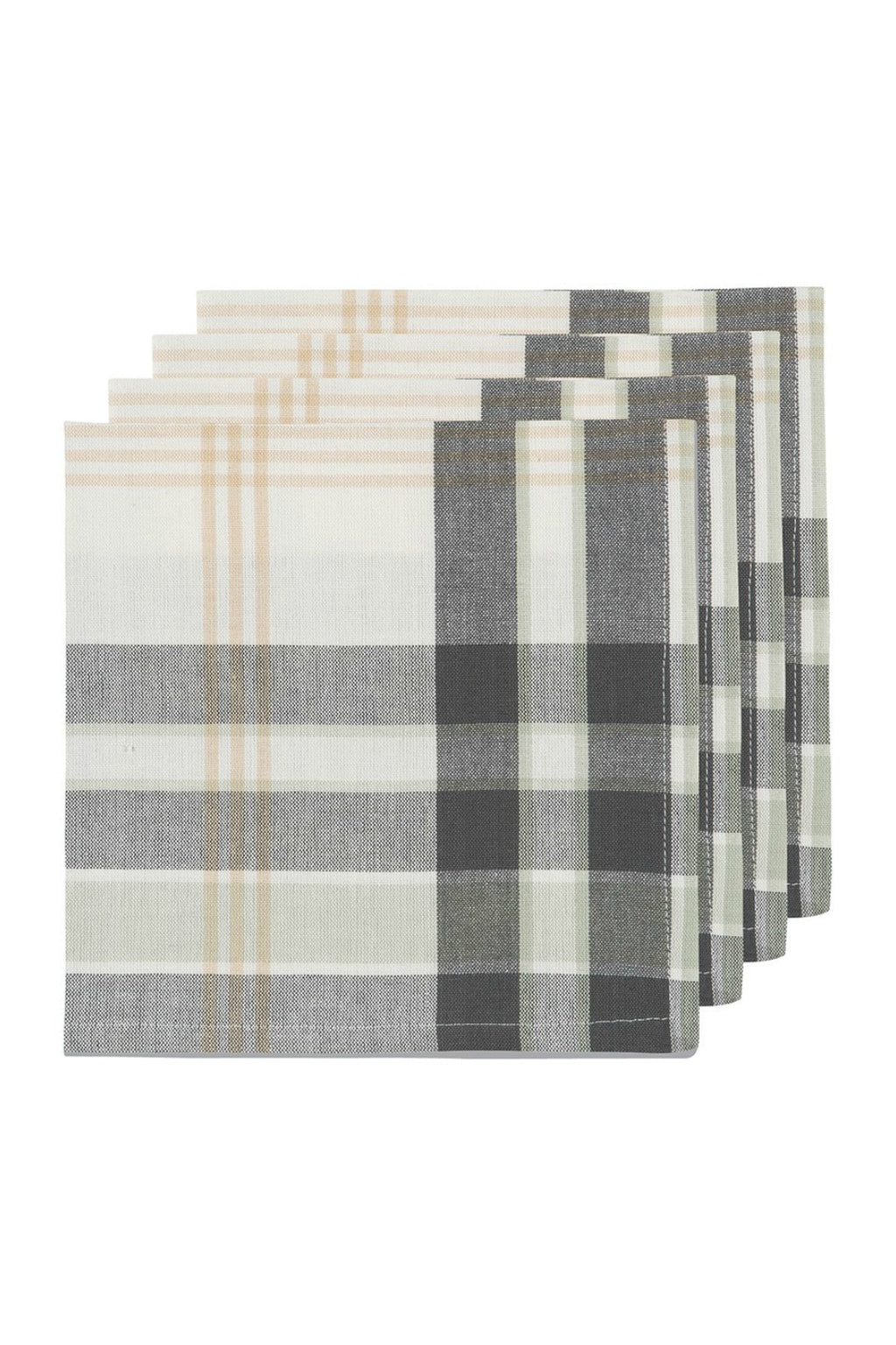 Now Designs Hudson Plaid Napkin Set