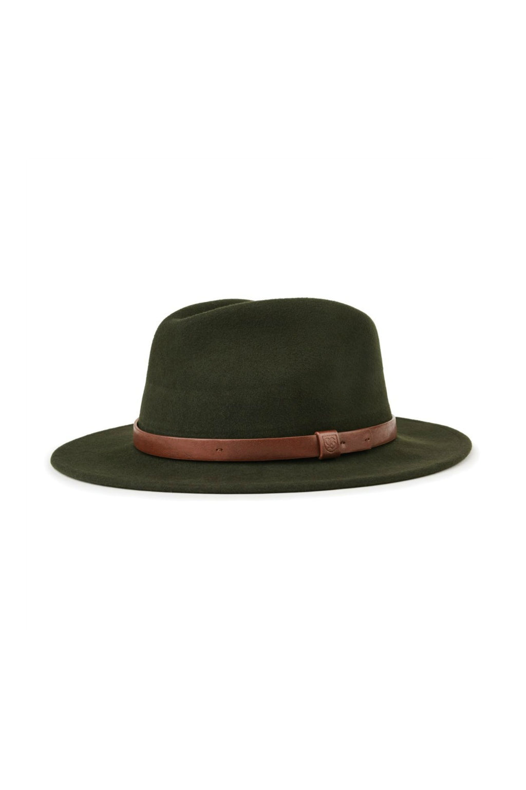 Brixton Messer Fedora in Hunter Green