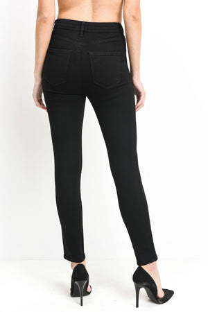"Just Black Denim 11"" - High Rise Classy Skinny Denim"