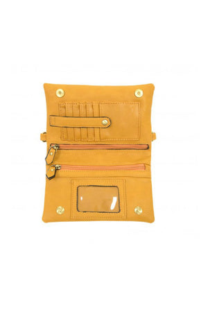 Joy Susan Kate Crossbody Clutch - Amber
