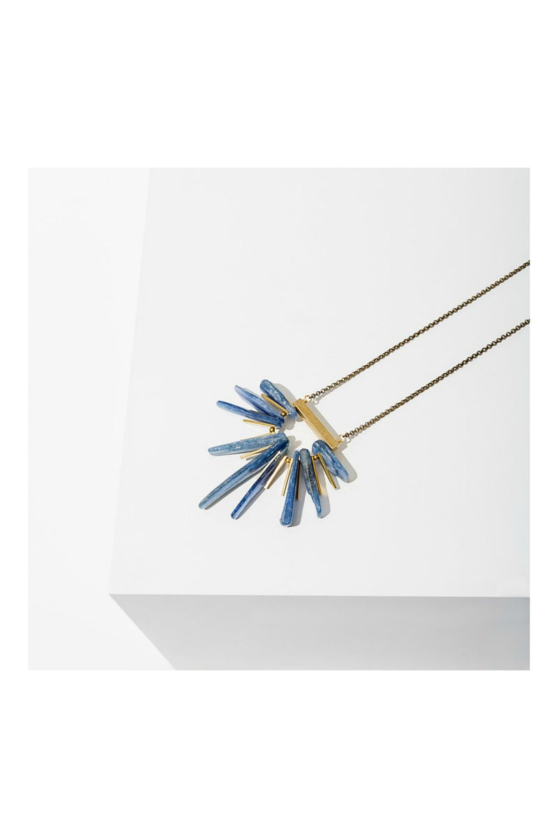 Larissa Loden Handmade Kyanite Fan Necklace