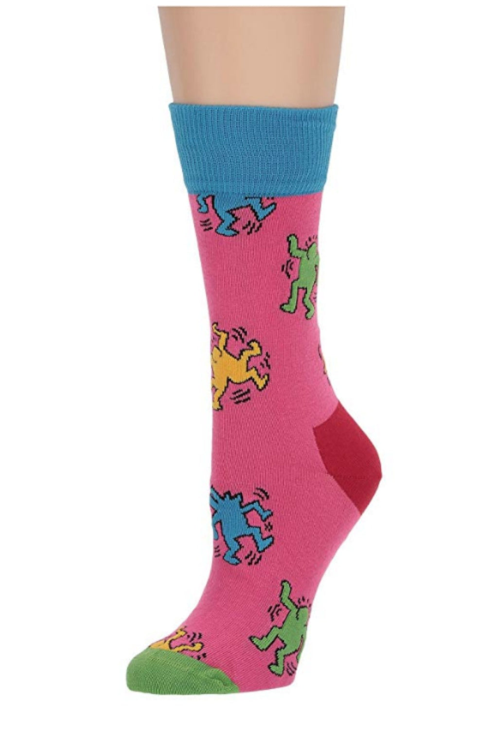 Happy Socks Keith Haring Dancing Socks - Dark Pink