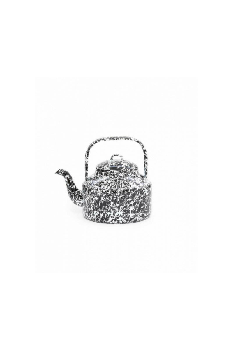 Crow Canyon Tea Kettle - Black & White Splatter