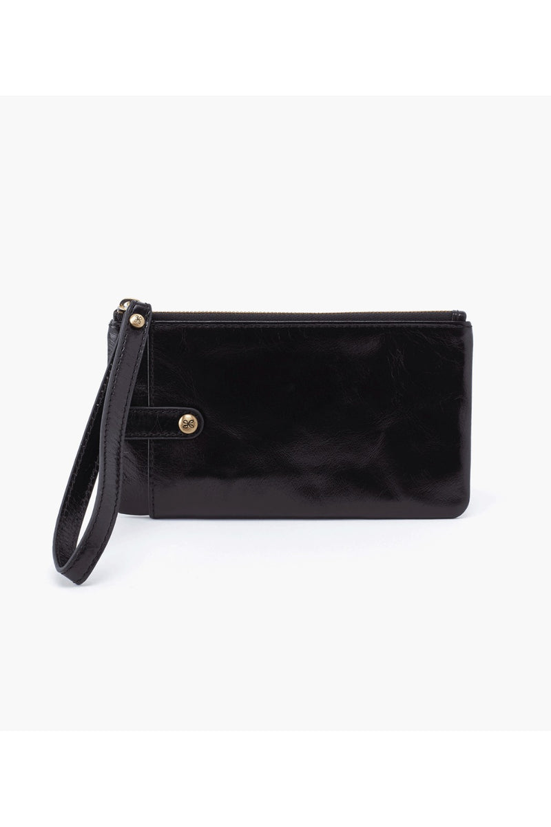 Hobo King Wristlet in Black