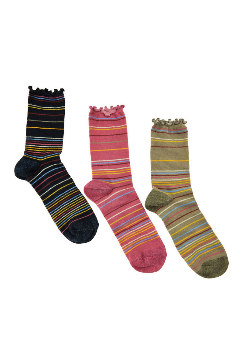 Numph Latoya 3-Pack Socks - Multi
