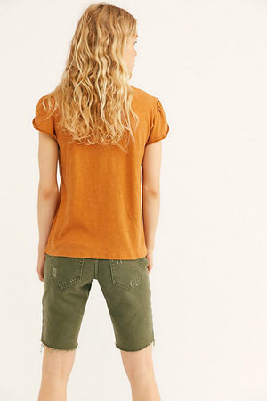 Free People Latte Tee in Honey
