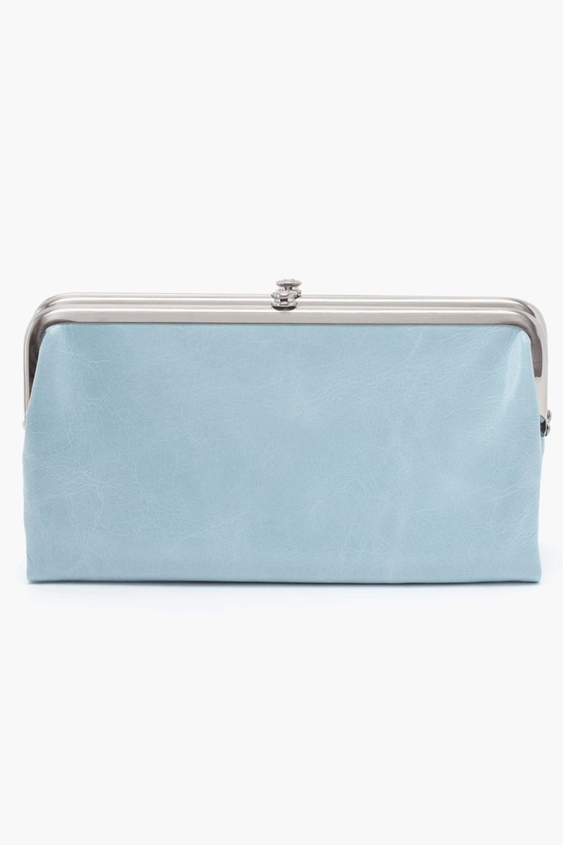 Lauren Clutch Wallet in Whisper Blue