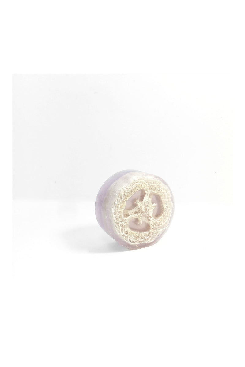 Honey Belle Loofah Soap in Lavender Rain