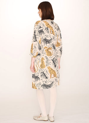 Pepaloves Leopard Print Tie Dress