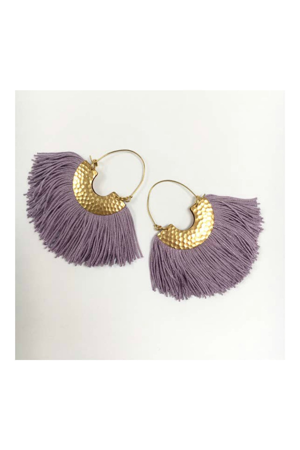 Odyssey & Oddities Lilac Fan Earrings