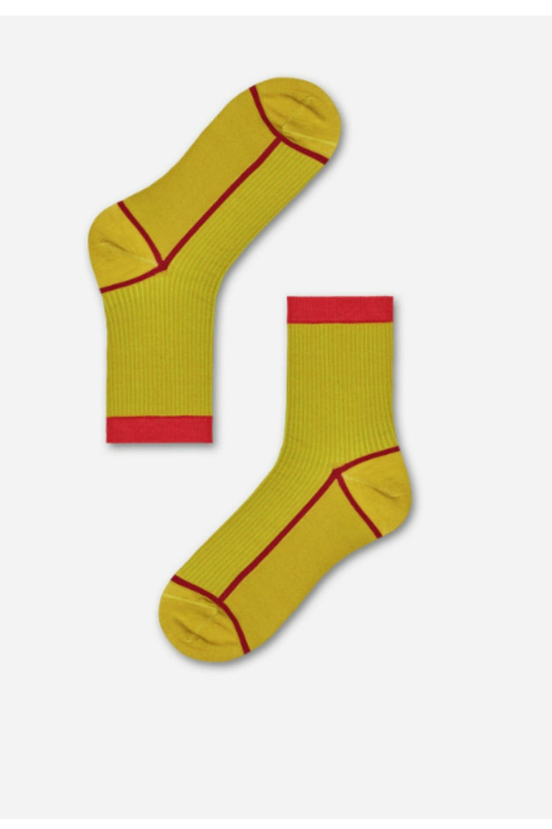 Happy Socks Lily Ankle Socks - Red/Yellow