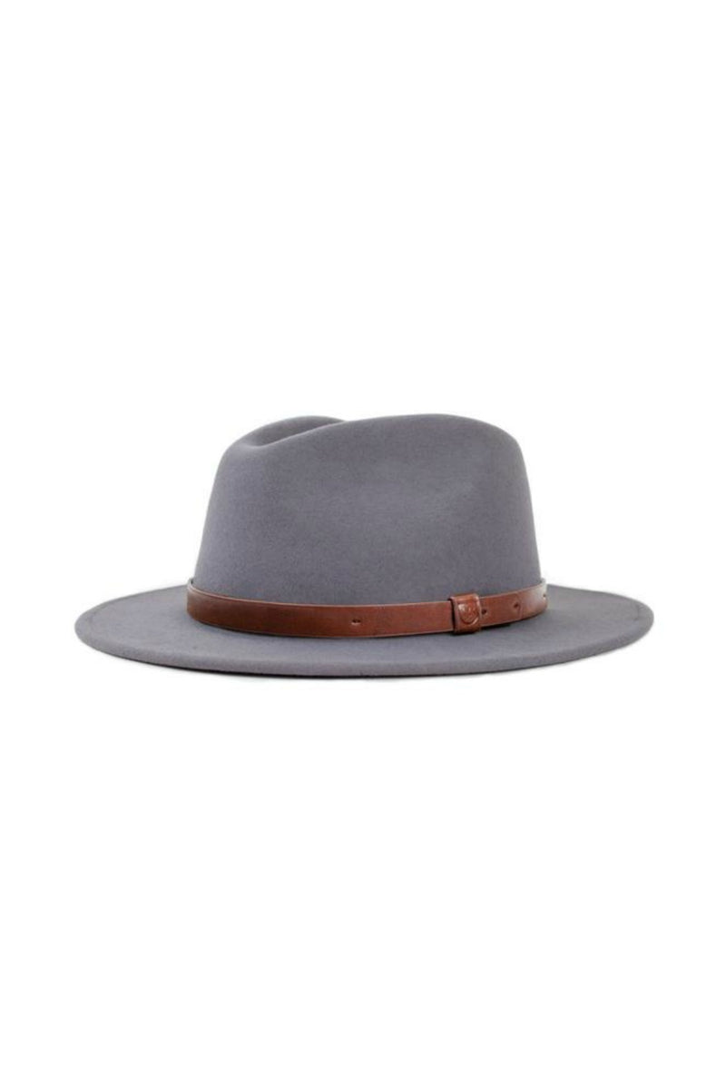 Brixton Messer Fedora in Light Grey