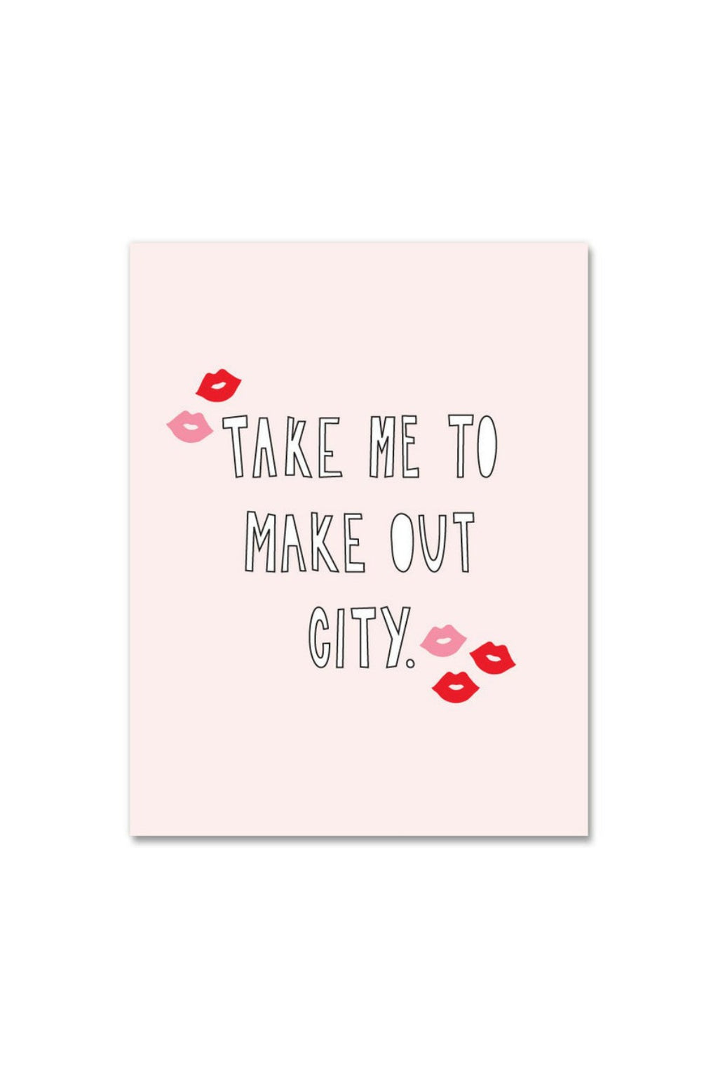 Near Modern Disaster Greeting Card - Make Out City