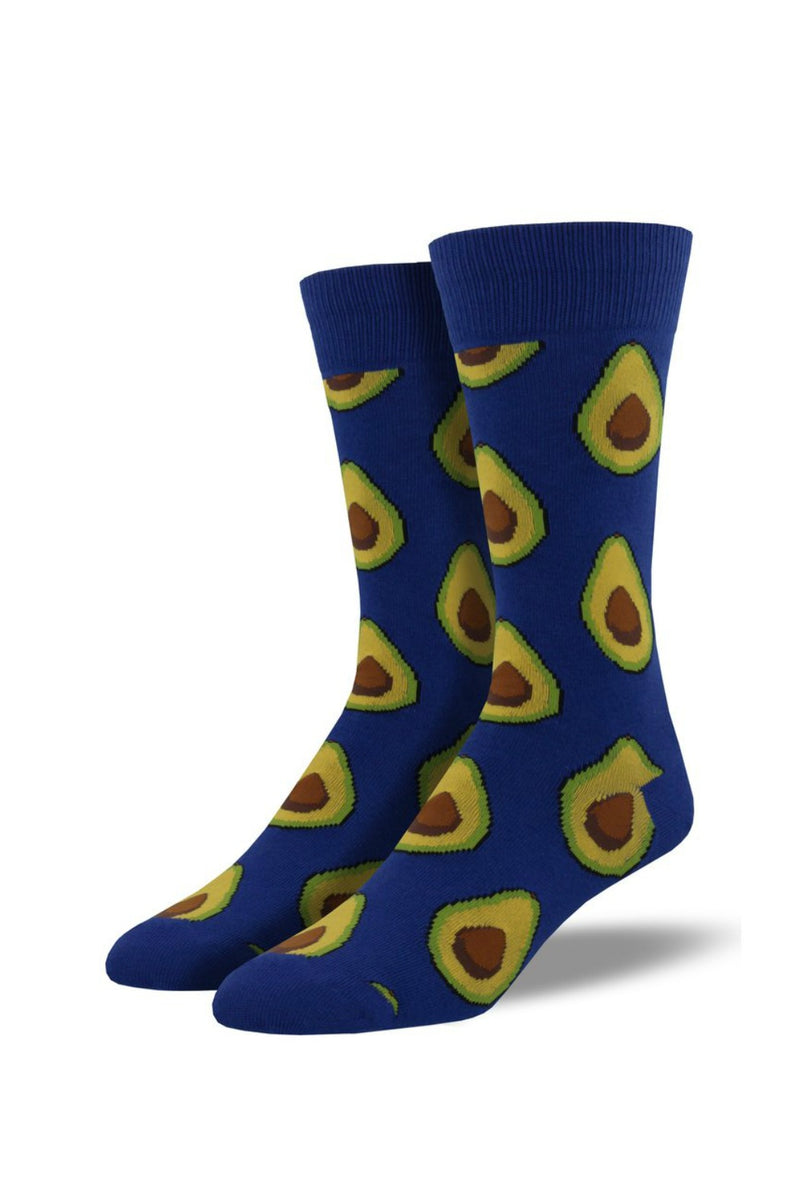 Socksmith Men's Novelty Bamboo Avocado Socks in Blue