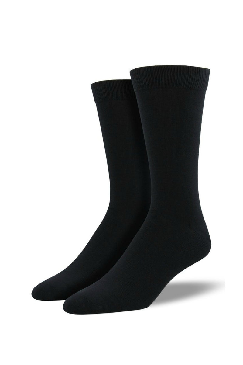 Socksmith Men's Bamboo Solid Socks in Black