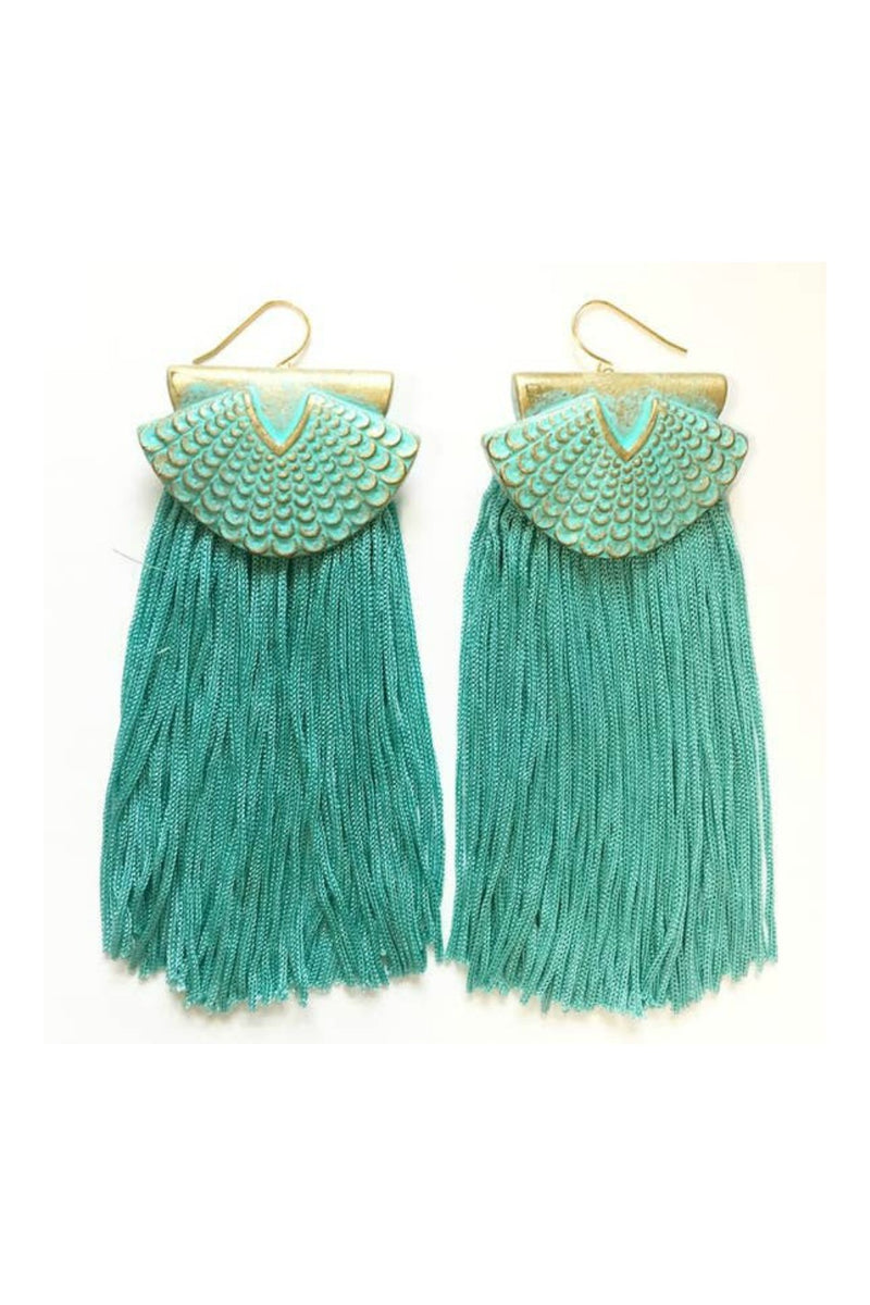 Odyssey & Oddities Mermaid Fringe Earrings