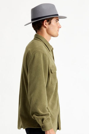 Brixton Messer Packable Fedora - Grey
