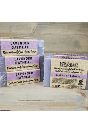 Messner Bee Farm Raw Honey and Beeswax Soap - Lavender and Oatmeal
