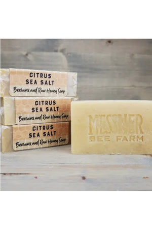 Messner Bee Farm Raw Honey and Beeswax Soap - Citrus Sea Salt