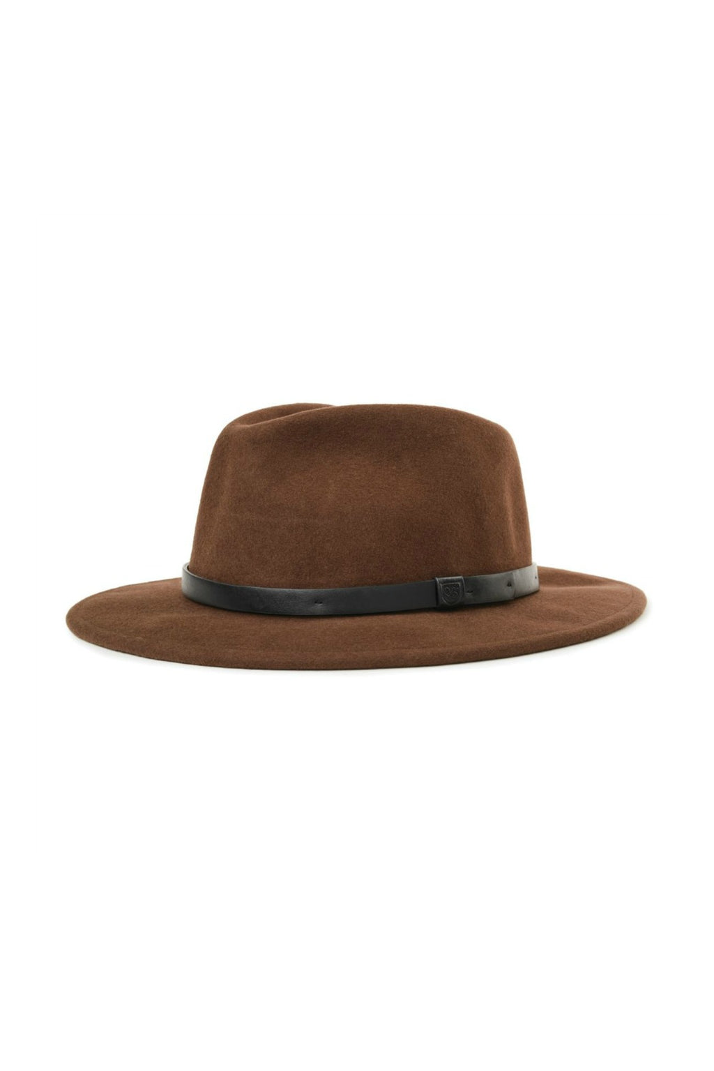 Brixton Messer Fedora in Brown/Black