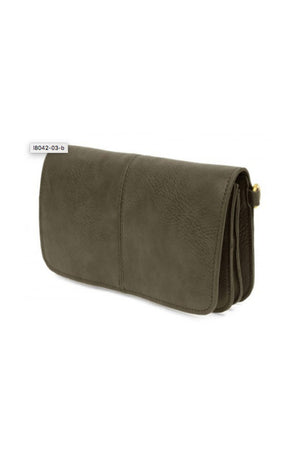 Joy Susan Mia Multi Pocket Crossbody - Olive