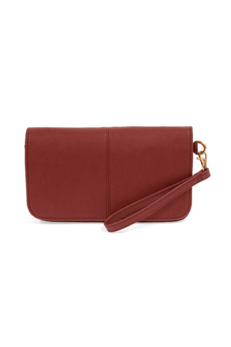 Joy Susan Mia Multi Pocket Crossbody - Ruby
