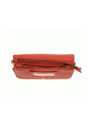 Joy Susan Mia Multi Pocket Crossbody - Scarlet