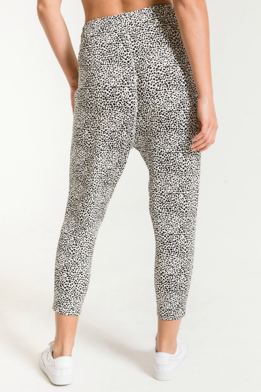Z Supply Mini Leopard Pant in Off White