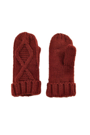 Numph Makelesi Mittens - Fired Brick