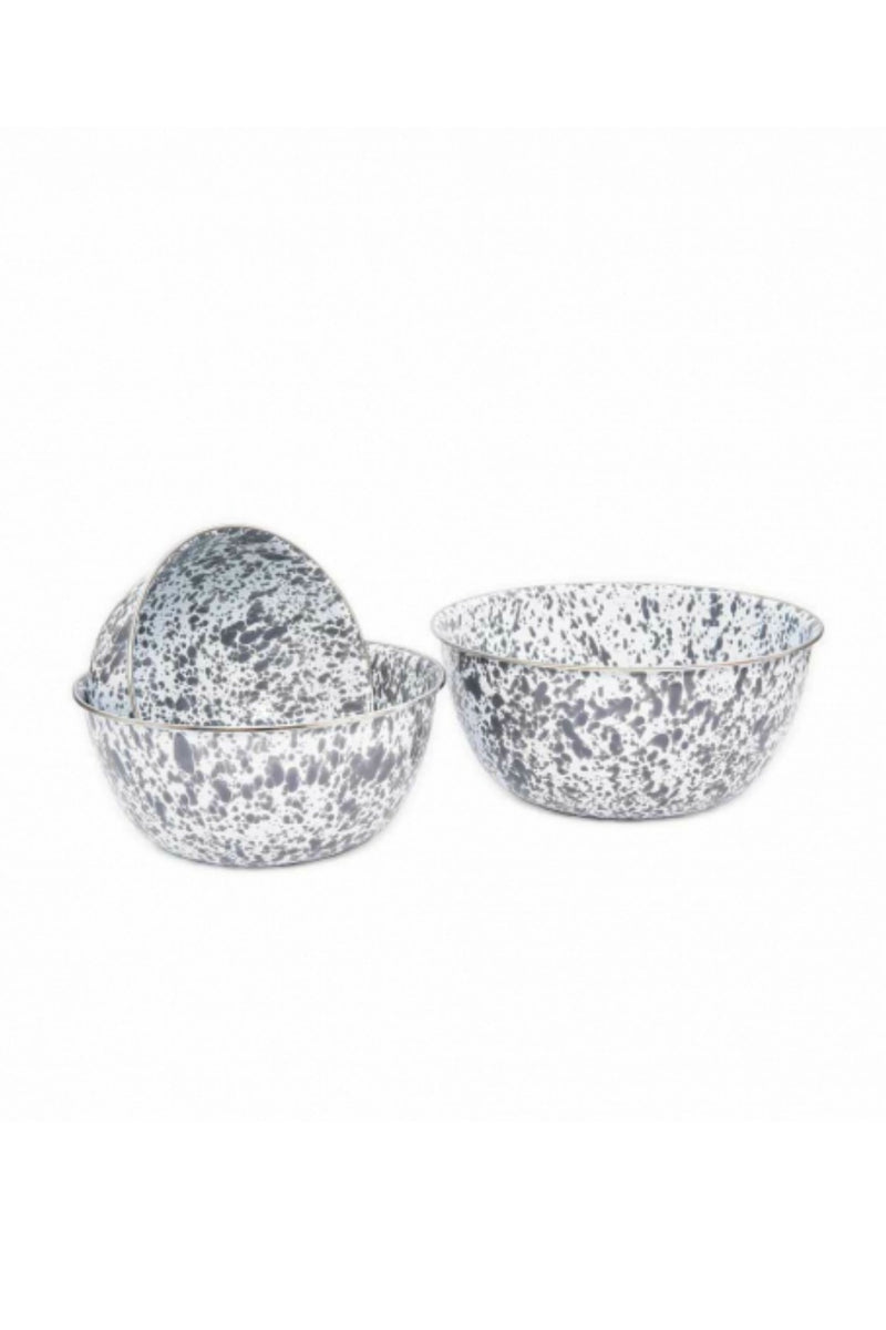 Crow Canyon Home Mixing Bowl - Grey Splatter - Set of 3