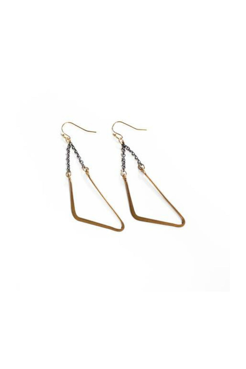 Larissa Loden Vintage Mod Swing Earrings - Brass