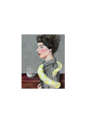 Caryn Cast Print - My Morning Coffee
