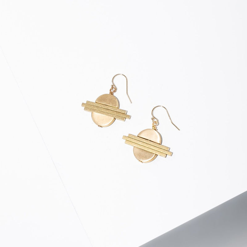 Larissa Loden Nabis Earrings - Brass