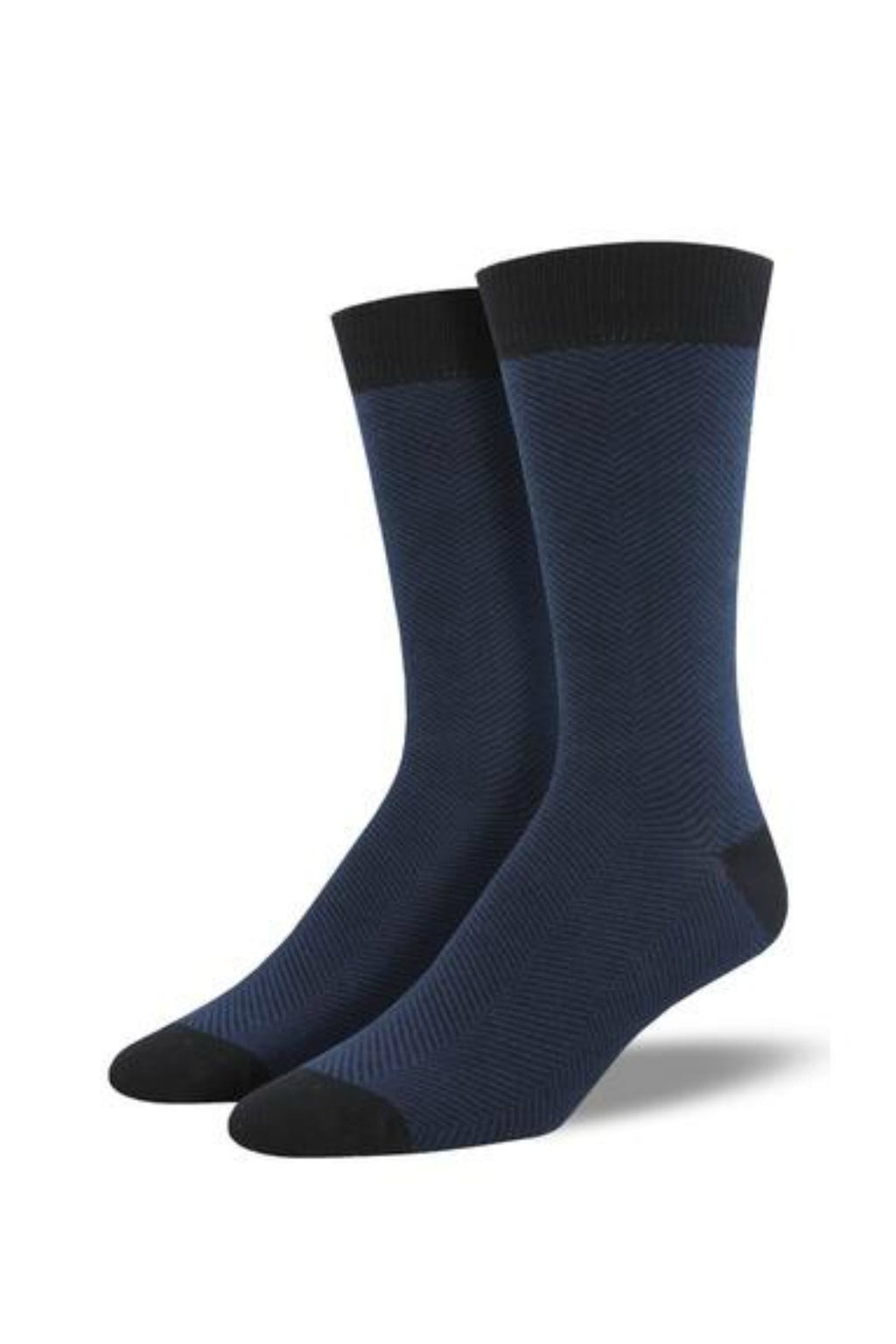 Socksmith Men's Bamboo Socks Solid - Herringbone Navy